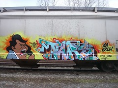Tars AA (TARSizm) Tags: brown graffiti james freight aa tars
