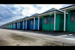 Hit the hut (Gary W Mellor) Tags: holiday beach seaside sony lincolnshire huts beachhut dslr a200 bankholiday mablethorpe
