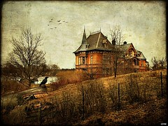Villa Sirishov (Milla's Place) Tags: old house building texture water photoshop landscape bay sweden stockholm oldhouse crow textured djurgrden ghostworks skeletalmess magicunicornverybest magicunicornmasterpiece shadowhousecreations sirishov