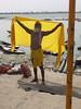 Drying Up Sadhu (amiableguyforyou) Tags: india men up river underwear varanasi bathing dhoti oldmen ganges banaras benaras suriya uttarpradesh ritualbath hindus panche bathingghats ritualbathing langoti dhotar langota