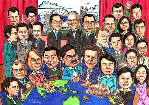 Group caricatures for Morgan Stanley A2