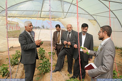زيارة وفد من العتبة الحسينية المقدسة الى مزرعة العتبة