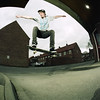 Dave Ollie (RobSalmon) Tags: road street uk two england colour 120 6x6 robert film dave 35mm square lens photography daylight big with shot skateboarding kodak yorkshire gap salmon ps rob east fisheye ollie negative bronica wilson format sq beverley sqa flashes 160nc