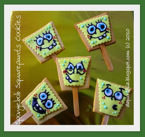 Spongebob Cookies with Stick