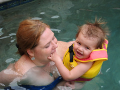 IMG_0586: First Swimming Lesson
