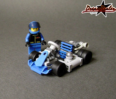 Kart (ZetoVince) Tags: blue car greek lego go vince racing vehicle kart minifig cart blackrims zeto 6wide zetovince dreamdealer zetocart