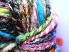 trashed and smashed (1) (rosie.ok) Tags: art wool crazy knitting warm crochet craft yarn spinning crafty handspun arisan artyarn