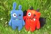 hare and demon (kuzco_cat) Tags: cute self crochet made amigurumi garten bunt selbst häkeln handarbeit süs gemacht amigurumis häkeltierchen