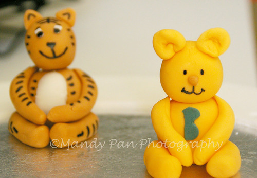 animal figurines for baby shower cake