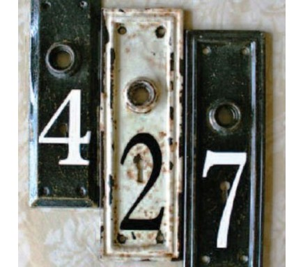 Unique Ideas: Vintage Number Keyplates