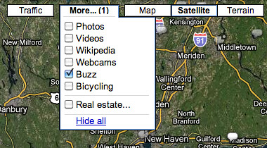 Google Buzz in Google Maps