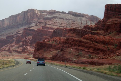 Red layers near Moab