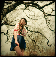 Emilie II (Andreas Ulvo) Tags: portrait film fashion analog hasselblad medium format analogue provia100f 500cm