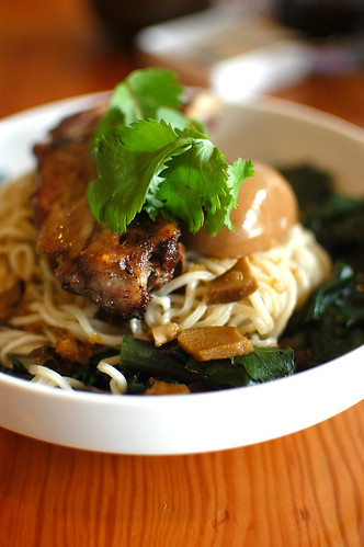pork Asian noodles dish at Nettletown