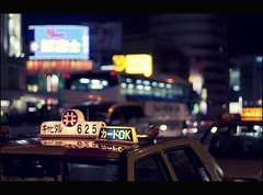 I don't know just where I'm going (Fabio Sabatini) Tags: japan canon japanese tokyo dof bokeh cab taxi shibuya 100mm outoffocus depthoffield   f2 boke    shinjukuku shibuyaku
