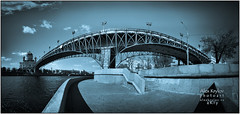 The Heaven's Bridge (a.Kry) Tags: city bridge blue urban panorama building nature water architecture river spring day russia moscow pano countries canondslr canoneos lr lightroom  orthodoxchurch      russianfederation     canonlens   50d    canoneos50d     unknownmoscow  religionbuilding  canonef24105f40l  lightroomshowcase  akryphotoart  christianbulding