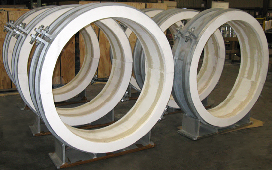 "48"" Guided Pre-Insulated Pipe Supports for High Temperatures"