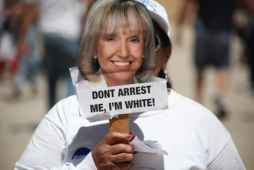 Jan Brewer: Don't arrest me I'm White