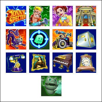 free Jonny Specter slot game symbols