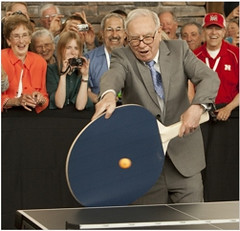 Warren Buffet never loses in Ping Pong