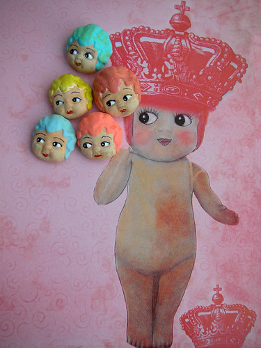Carnival Doll Heads & Matching Paper!