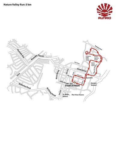 Nature Valley Run 2010 5K Race Map