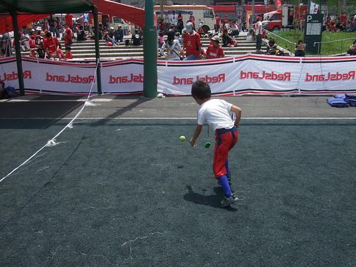 テニス体験「ボレー×ボレー」