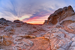 one for the ages... (Mac Danzig Photography) Tags: coyote sunset arizona moon white rock landscape desert canyon pockets formations buttes paria tnc11