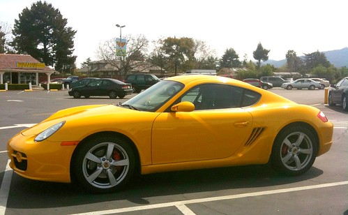 Cool yellow sports car