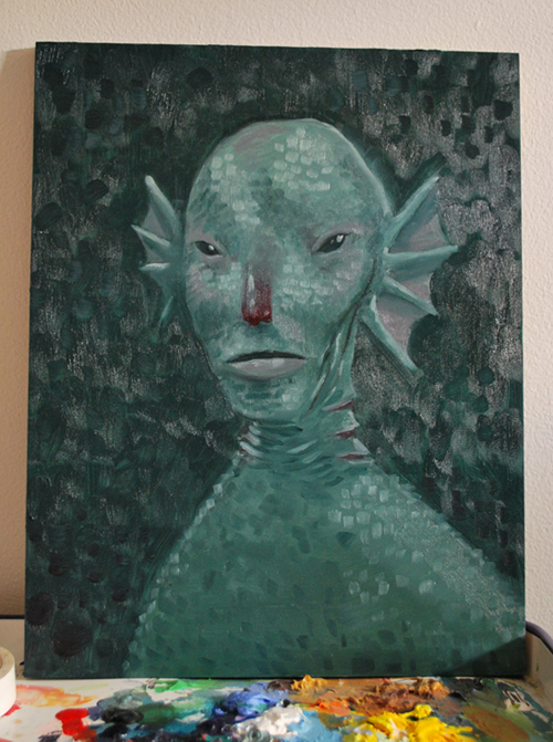 sea man oil painting