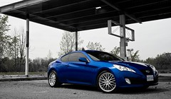 There's no Gas Here. (boozysmurf) Tags: flush genesis hyundai mirabeau hankook 19inch 20t hellaflush genesiscoupe mirabeaublue petrolvengeance ventusevok110