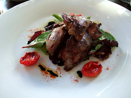 chicken liver salad, 101 Pimlico Road
