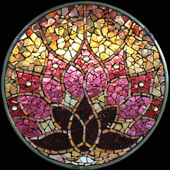 Awakening (artglassmosaics) Tags: glass awakening lotus mosaic stained mandalas artglassmosaics