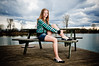 Vannessa (Sergiu Bacioiu) Tags: wood sunset portrait sky lake texture nature water clouds pose bench table cloudy outdoor dusk vannessa
