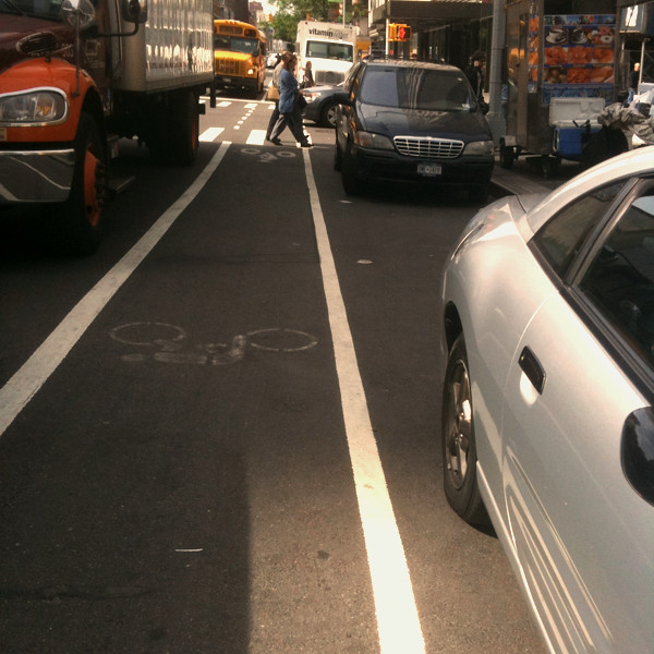 it's faster to use the bike lane #walkingtoworktoday