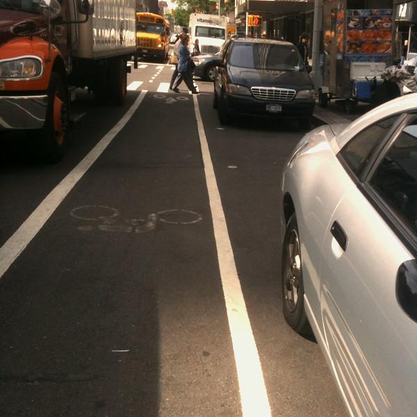 it's faster to use the bike lane #walkingtoworktoday