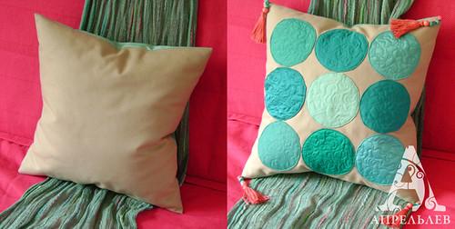 Весеннее обновление диванной подушки