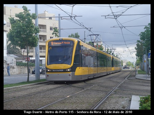 Flexity Swift - Metro do Porto 115 - Senhora da Hora - 12 de Maio de 2010