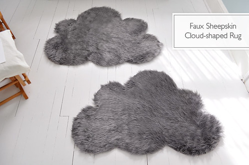 DIY faux sheepskin rug by Lifeflix