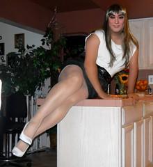 No Peek-a-boo this time (Veronica Mendes (formerly Toni Richards)) Tags: white sexy high long legs cd highlights tgirl transgender wig heels toni makeover straight stiletto richards transgendered pantyhose crossdresser crossdress highlighted tg sheer travesti transwoman