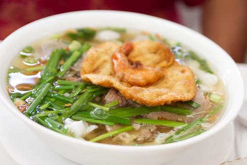 some noodle soup dish