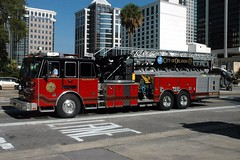 Orlando Fire Department. Tower 1. (RJACBclan) Tags: firetrucks fireengines truck1 ofd firestations sutphen tower1 ladder1 orlandofiredepartment laddertower orlandofireengines orlandofiretrucks orlandofirestations orlandotower1 orlandoladder1 orlandotruck1
