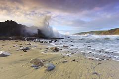 The Sea's Embrace - McClures Beach, California (PatrickSmithPhotography) Tags: ocean california usa cloud seascape storm canon landscape sand surf wind marin wave 5d pointreyes monolith mkii kehoe nationalseashore mcclures canon5dmkii