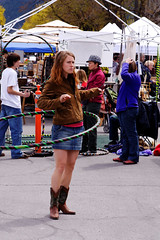 Woman with Hulu Hoop, People's Market in Missoula (CT Young) Tags: hoop montana downtown mt missoula rockymountains hulahoop bigskycountry missoulamt missoulamontana canonefs1785mmf456isusm downtownmissoula missouladowntown peoplesmarket huluhoop downtownmissoulamt downtownmissoulamontana dowtownmissoulamt