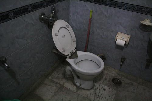 インドホームステイの家のトイレ