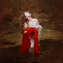 in dreamland (brookeshaden) Tags: red woman baby blood katie dream johnson pregnant blanket romantic distress brookeshaden texturebylesbrumes