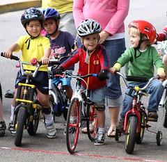 Fort Collins Velodrome Association bicycle races @ CSU Oval