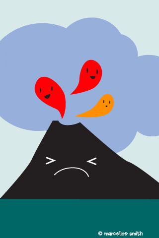 volcano iPhone wallpaper