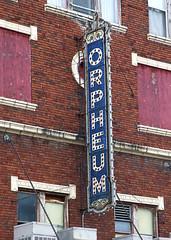 ORPHEUM (Pete Zarria) Tags: cinema film sign bulb movie illinois theater palace hollywood