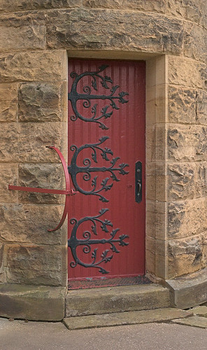 Saint Meinrad Archabbey, in Saint Meinrad, Indiana, USA - door into church